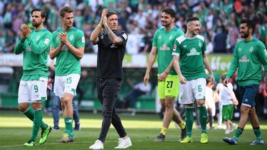 Max Kruse hat sich im letzten Heimspiel von den Fans des SV Werder Bremen verabschiedet