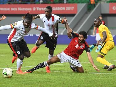 Uganda (weiße Trikots) ist nach der zweiten Niederlage draußen