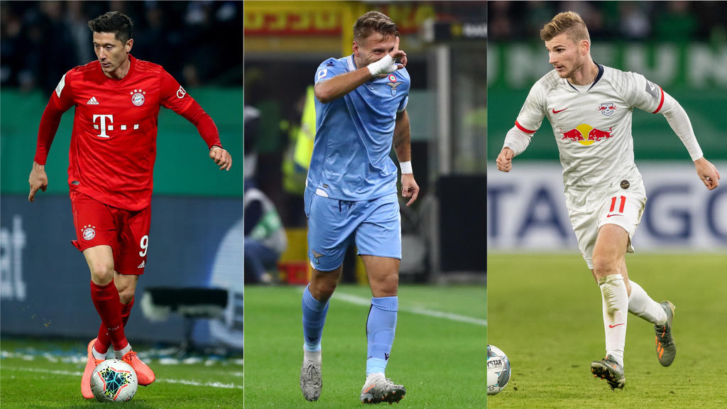 Robert Lewandowski, Ciro Immobile und Timo Werner zählen zu den Top-Knipsern Europas