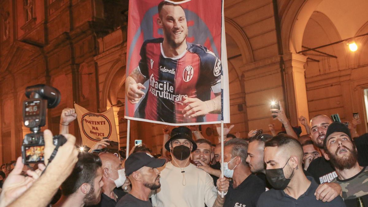Marko Arnautovic wird von den Bologna-Fans bereits erwartet