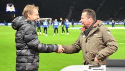 Lothar Matthäus (r.) hält große Stücke auf Jürgen Klinsmann (l.) von Hertha BSC