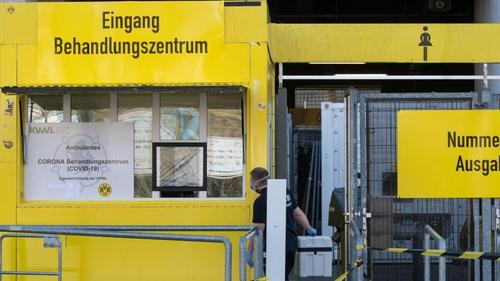 Das Behandlungszentrums im Signal-Iduna-Park ist seit dem ersten April-Wochenende eröffnet