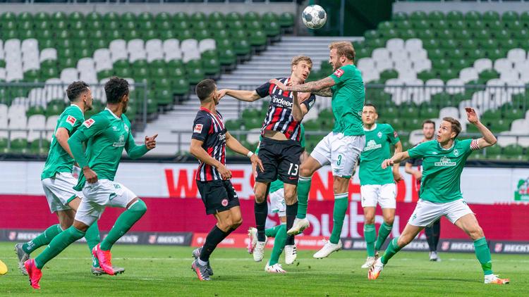 Eintracht Frankfurt setzte sich deutlich gegen Werder Bremen durch