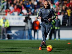 Zidane contó hoy sólo con 12 futbolistas, entre ellos dos de sus hijos. (Foto: Getty)