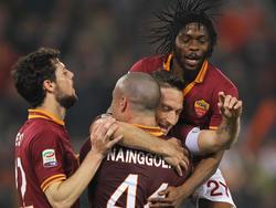 Francesco Totti kam, sah, traf und Roma siegte