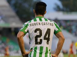 El delantero del Betis, Rubén Castro