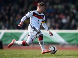 Felix Passlack im Dress des deutschen U-17-Nationalteams