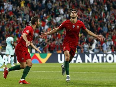 Guedes marcó el único gol del partido.
