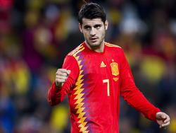 Morata celebra un tanto con la selección española. (Foto: Getty)