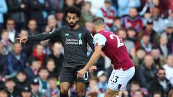 Der FC Liverpool um Superstar Salah hatte in Burnley leichtes Spiel