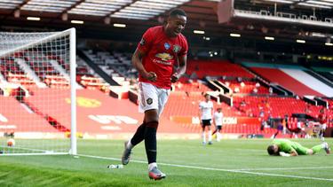 Anthony Martial erzielte drei Treffer für Manchester United