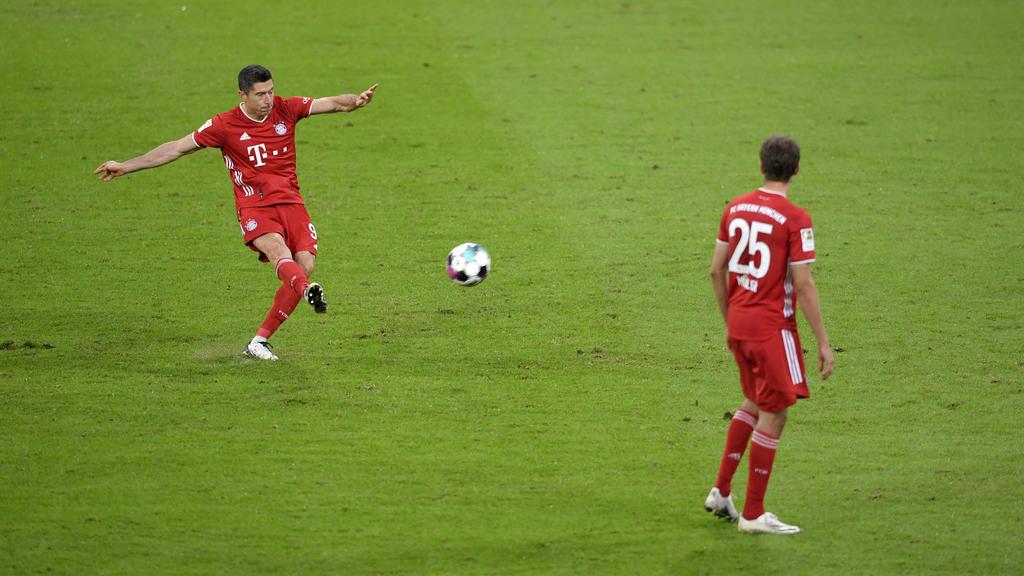 Robert Lewandowski und Thomas Müller führten den FC Bayern zum Sieg