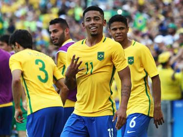 Gabriel Jesus marcó un doblete ante Honduras. (Foto: Getty)