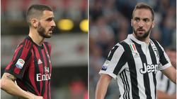 Leonardo Bonucci und Gonzalo Higuaín wechseln die Klubs