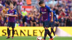 Luis Suárez anotó el 8-2 desde el punto de penalti. (Foto: Getty)