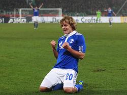 Nach dem Treffer zum 2:2 gegen Hannover
