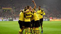 Der BVB jubelt über den Sieg gegen Mainz 05