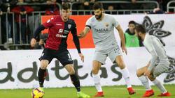 Cagliari schafft Ausgleich in doppelter Unterzahl