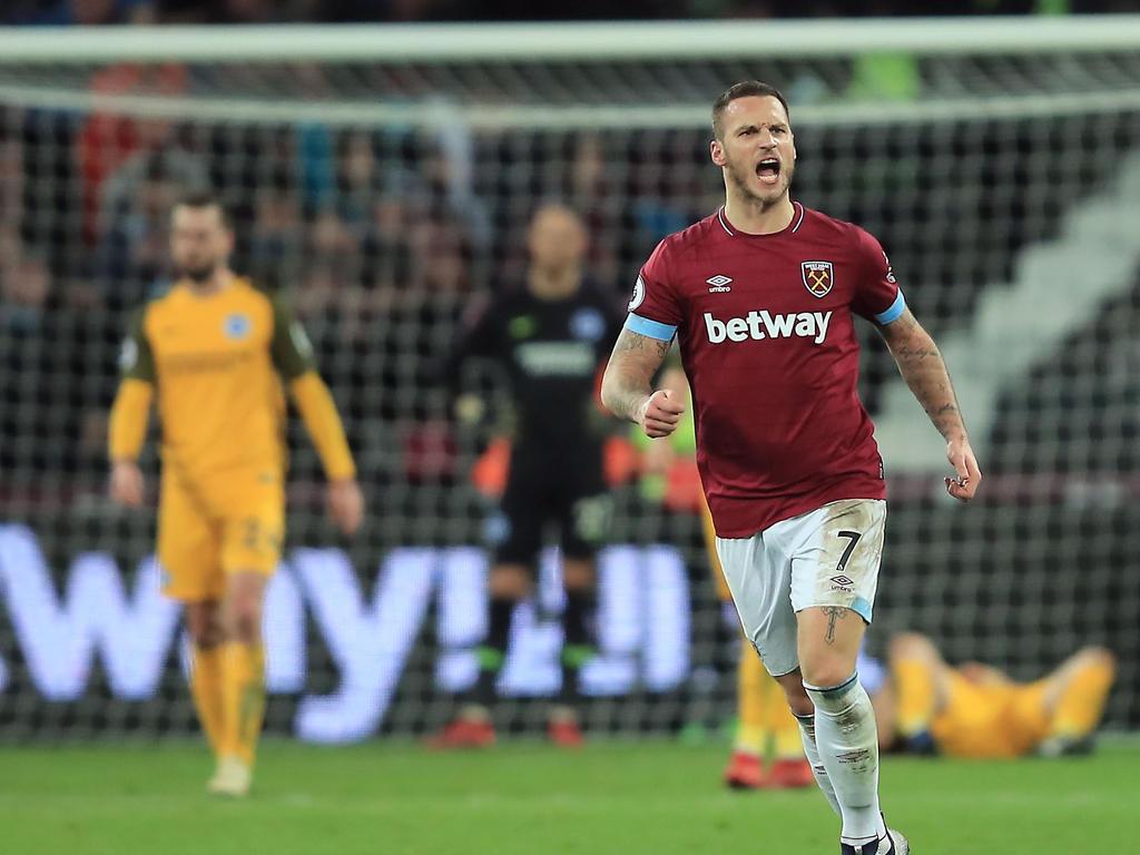 Arnautović schrieb gegen Brighton & Hove Albion gleich zwei Mal an