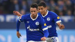 Uth (vorne) und Harit könnten gegen RB Leipzig spielen