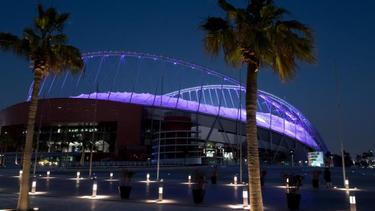 Das Khalifa International Stadium in Doha für die Fußball-WM in Katar