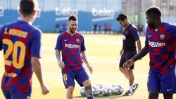Hat das Training beim FC Barcelona wieder aufgenommen: Lionel Messi