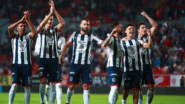 Monterrey celebra un triunfo liguero ante Necaxa.