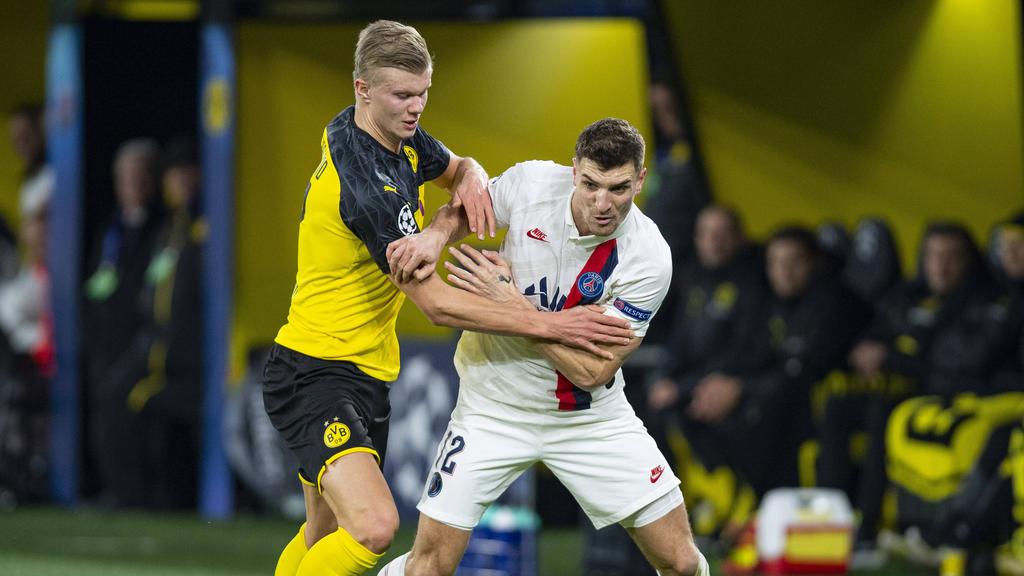 Wohl bald vereint beim BVB: Erling Haaland (l.) und Thomas Meunier