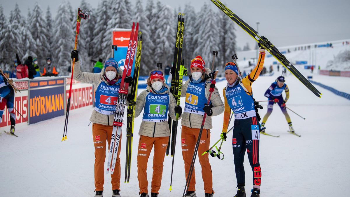 Die Erfolgsstaffel von Oberhof geht auch beim Weltcup in Antholz an den Start