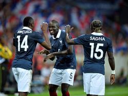 Die Franzosen bejubelten einen Kantersieg gegen die Jamaikaner