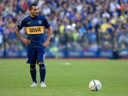 Tevez in seinem ersten Spiel nach seiner Rückkehr zu Boca