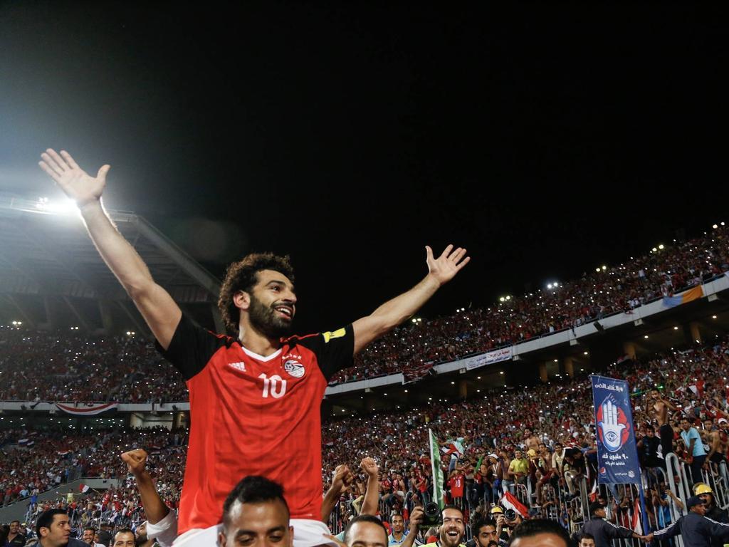 Mohamed Salah sorgte mit seinem Treffer in der Nachspielzeit für Euphorie in ganz Ägypten