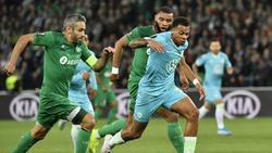 Lukas Nmecha (r.) verletzte sich im Spiel gegen Saint-Étienne