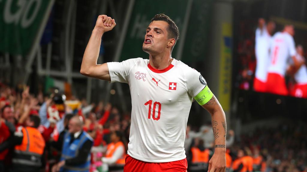 Granit Xhaka traf für die Schweiz gegen Gibraltar