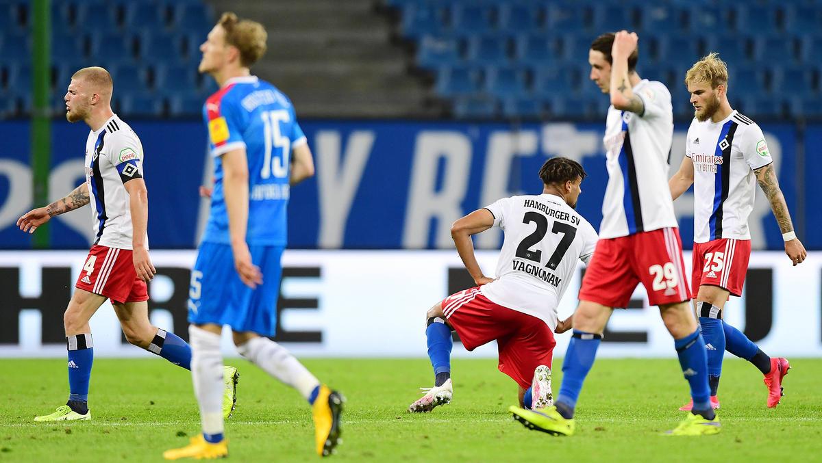 Der Hamburger SV ließ gegen Holstein Kiel wichtige Punkte liegen