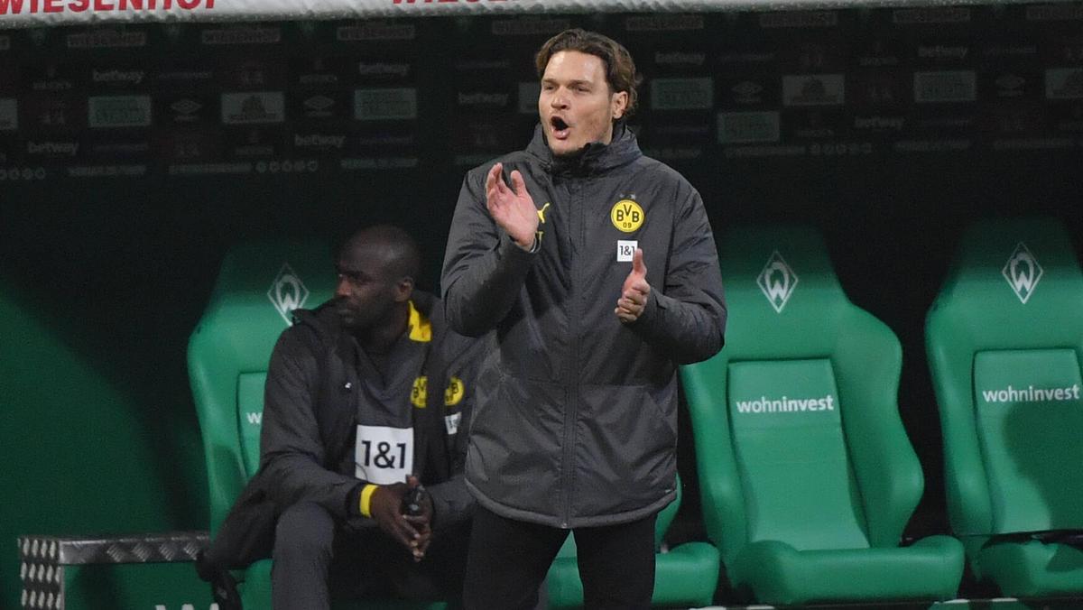 Erdin Terzic feierte in seinem ersten Spiel als BVB-Coach einen Sieg in Bremen