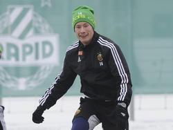 Florian Kainz beim Trainingsauftakt von Rapid