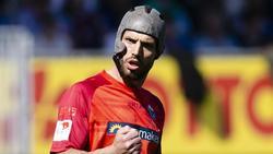 Spielt mit Helm: Paderborns Klaus Gjasula
