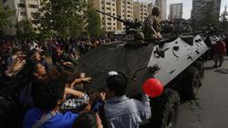 Protestas en la capital chilena.