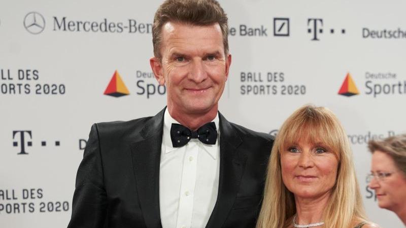 Michael Groß im Februar mit seiner Ehefrau Ilona beim 50. Ball des Sports