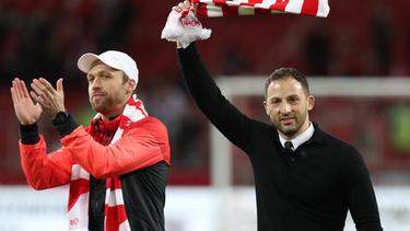 Domenico Tedesco (r.) hat Spartak in die CL geführt