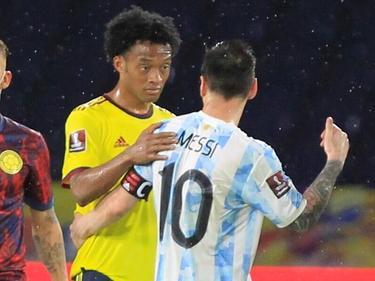Messi y Cuadrado en anterior enfrentamiento entre Argentina y Colombia.