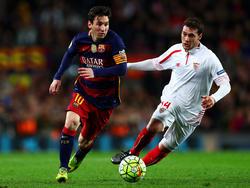 Sebastian Cristóforo en un partido con el Sevilla contra el Barcelona. (Foto: Getty)