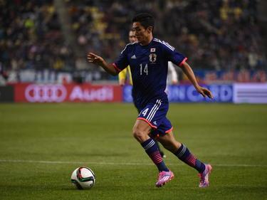 Yoshinori Muto en el partido de Japón ante Túnez. (Foto: Getty)