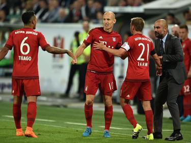 Auf Thiago, Robben und Lahm ruhen einmal mehr die Bayern-Hoffnungen