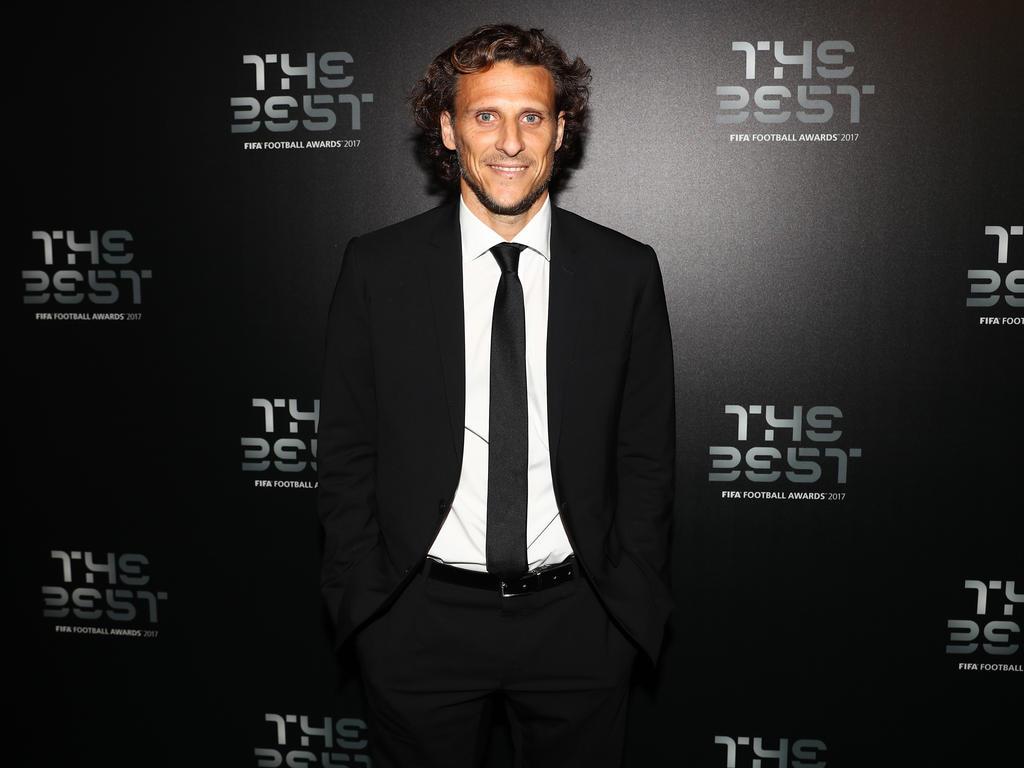 Forlán en la gala del premio 'The Best' de la FIFA.