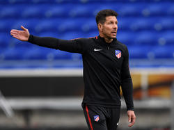 Simeone en un duelo de entrenamiento reciente. (Foto: Getty)