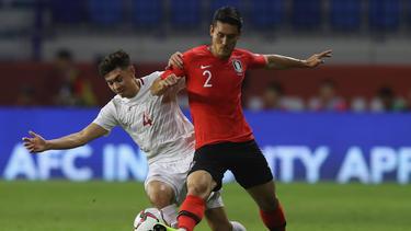 Kim Min Jae (l.) erzielte den 2:0-Endstand