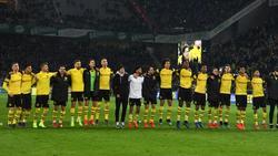 Nach dem Heimsieg gegen Leverkusen konnten die Dortmunder mit den Fans feiern