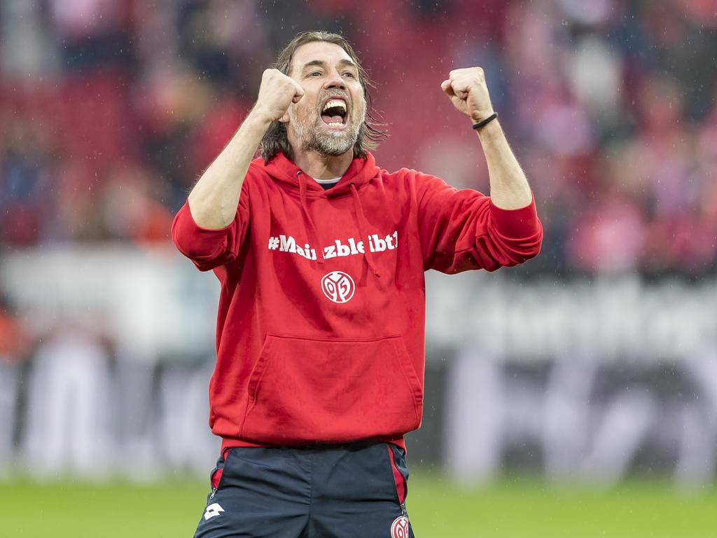 Martin Schmidt darf endlich wieder einen Sieg mit den Mainzern bejubeln